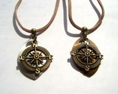 Large Scale Compass Necklace - Bronze or Champagne