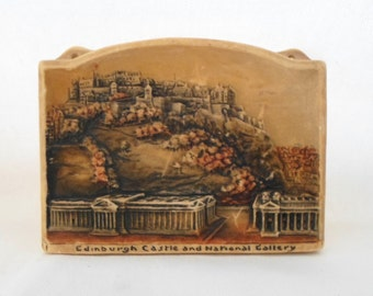 Osborne, Ivorex, Wall Hanging, Edinburgh Castle, and, National Gallery, Made in England, Vintage, Collectibles, 3D