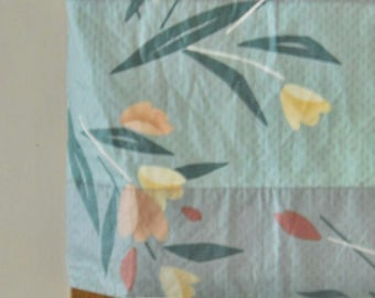 Teal Valance Blue Valance Bedroom Valance Window Valence Curtain Valance Curtain Valence Tulip Floral Valance Mauve Window Valance Geometric