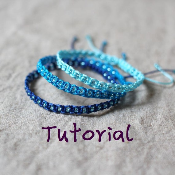 beaded macrame bracelet friendship bracelet pattern-FREE SHIPPING