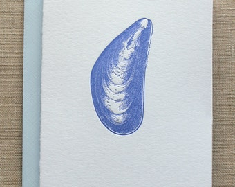 Mussel Letterpress Card Set