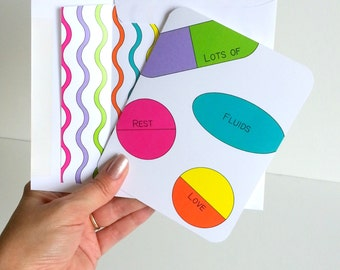 Feel Better Soon Greeting Card Happy Pills Get Well Card Speedy Recovery Wishes Greeting Card for Sick Friend