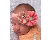 Pink Baby Headbands, Coral Baby Headband, Baby Headband, Pink Headband, Infant Headband, Newborn Headbands, Girl Headbands, Baby Headband