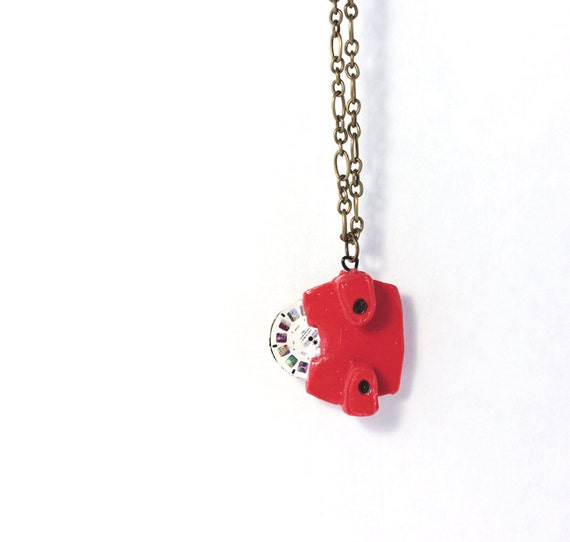 View Master Necklace- Polymer clay necklace