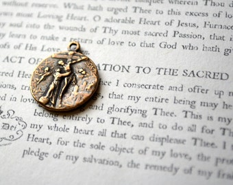 Small St. Francis MEDAL - Bronze - Vintage Replica - Made in the USA (M183-1100)