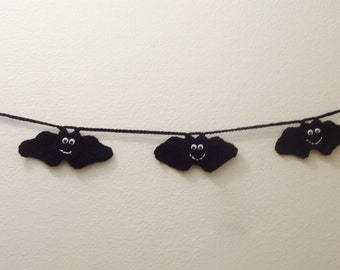 55 Inch, Cute Five Bat Halloween Garland