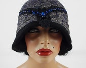 Felted Hat Cloche hat Art Hat Flapper hat Art deco hat Retro hats Felt wearable art Nunofelt Nuno felt la belle epoque