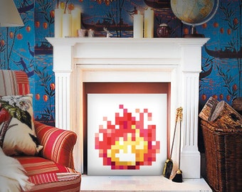 8-Bit Fireplace (Pink Lemonade)