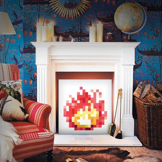 8-Bit Fireplace (Pink Lemonade)