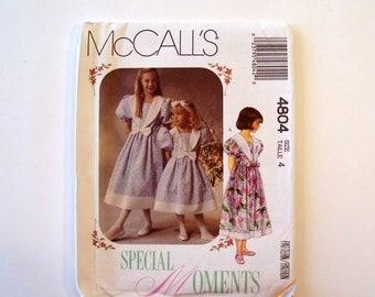 Girl's Dress Pattern for Size 3-14 McCall's 4804, Dress Pattern, Sewing Pattern, Girls Pattern, McCalls Sewing Pattern, Girls Clothes