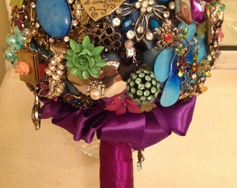 DEPOSIT | Tell Your Story with a Custom Brooch Bouquet | Custom Bridal Bouquet
