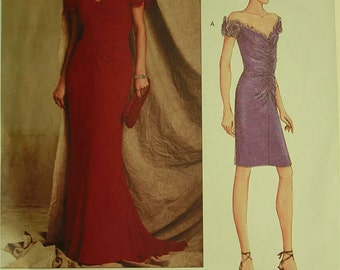 Dress, Off-Shouders by Bellville Sassoon - 2000's - Vogue Pattern 2608  Uncut   Size 14-16-18  Bust 36-38-40""