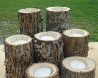 Popular items for rustic wood candle on Etsy