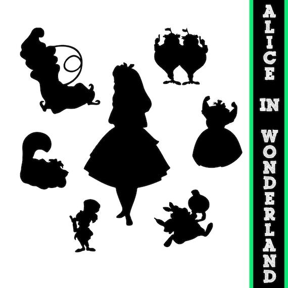 Alice in Wonderland Silhouettes // Disney Princess Alice