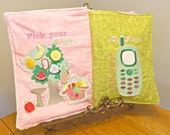 Cloth Activity Book For Toddlers With fully customizable carrying bag with zipper closure- pick your size
