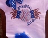 Baseball Sister - Applique Shirt or Bodysuit