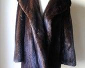 Sumptous Vintage 1950s Bullock's Wilshire Chocolate Brown Mink Fur