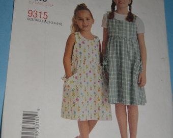 Stitch n Save 9315 Childrens and Girls Jumper Sewing Pattern - UNCUT - Sizes 2 3 4 5 6