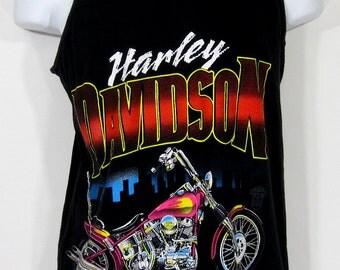 Vintage Harley-Davidson Chopper Tank Top Sz.S/M 1990's