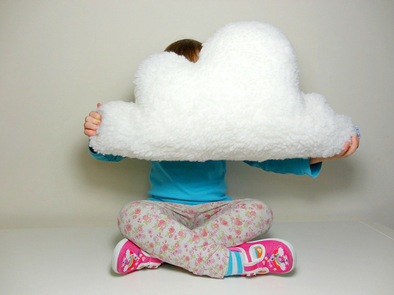 FLUFFY CLOUD PILLOW Cushion White Faux Sheepskin By