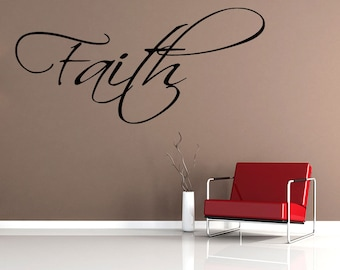 Wall Quotes Faith Vinyl Wall Decal Quote Removable Christian Wall Sticker Home Decor (419)