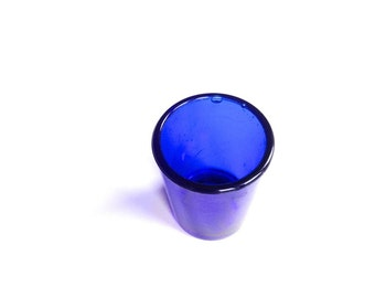 WWI cobalt blue coloured glass eyewash medical English glass antique device optical bath