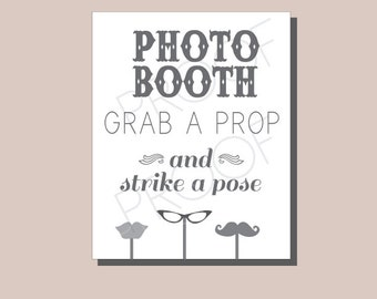 items similar to vintage photobooth sign chippy paint old fashioned pointing hand completely. Black Bedroom Furniture Sets. Home Design Ideas