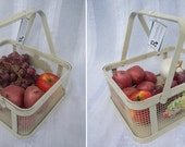 Upcycled Vintage Fruit Basket - Grocery Bag Alternative
