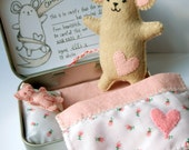 Little Tinker - Elspeth - Handsewn Tinned Mouse with Bed and Teddy