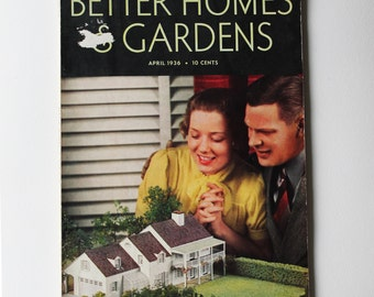 SALE! April 1936 Better Homes and Gardens magazine