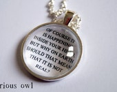 Inside Your Head - Harry Potter Fandom Necklace (Curious Owl)