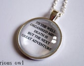 The Next Great Adventure - Harry Potter Fandom Necklace (Curious Owl)