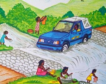 Haitian print 10 dollars