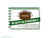 football party, 15 printed invitations, personalized invitations, printable file also available