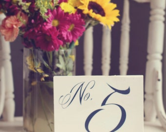 Wedding Table Numbers, Rustic Table Numbers for Wedding, Elegant Wooden Table Numbers Wedding - Single table number - TB-3