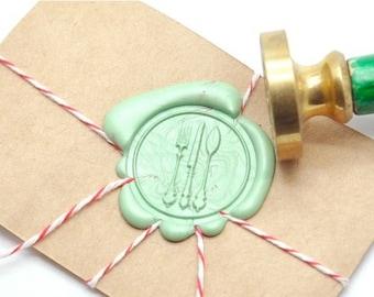 B20 Wax Seal Stamp Bon Appetit Utensil