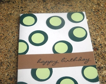 Green Polka Dot Greeting Card - Set of 10