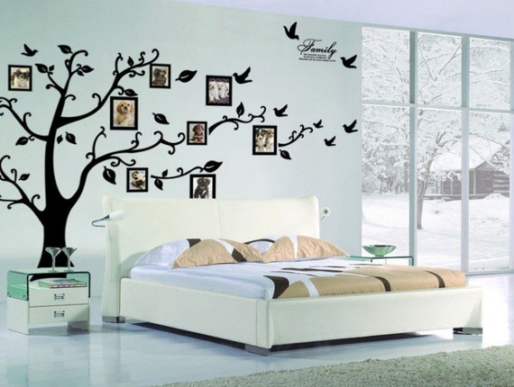 Family Tree Wall decal Photo frame tree decal Tree by