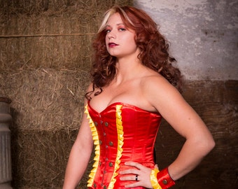 Lion tamer overbust corset- made to order
