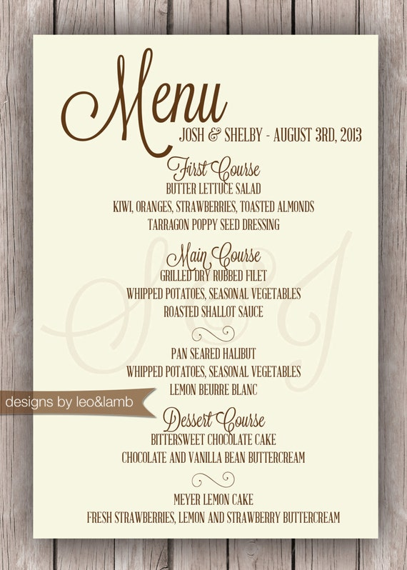 Wedding Rehearsal Dinner Menu Ideas images