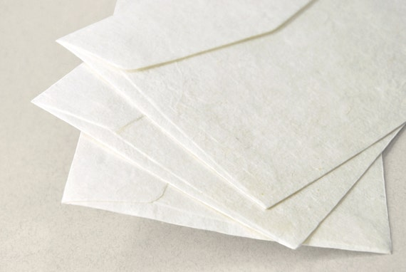 A7 5x7 inch Mulberry Paper Envelopes Off-White Set of 10