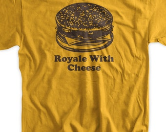 Funny Burger T-Shirt Classic Movie Cheese Burger - Screen Printed T-Shirt Tee Shirt T Shirt Mens Ladies Womens Funny Geek