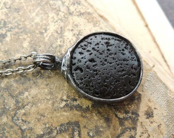 aromatherapy jewelry, lava stone necklace, essential oil, diffuser necklace, black lava necklace, diffuser jewelry, meditation gifts