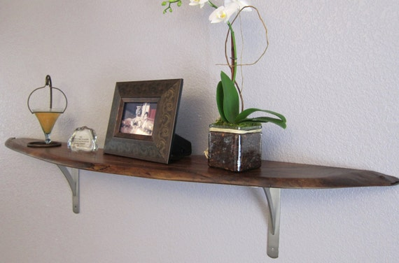 Curved Live Edge Round Wall Shelf By Woodwavesinc On Etsy