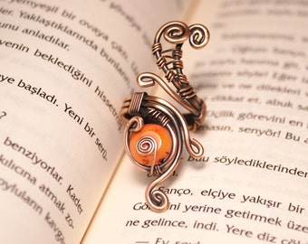 copper wire with coral ring wire wrapped jewelry handmade copper wire jewelry wire wrapped ring handmade