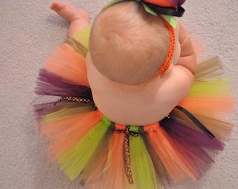 Halloween Tutu Set, Halloween Headband, Newborn Halloween Tutu Set, Infant Halloween Tutu Set, Toddler Halloween Tutu Set