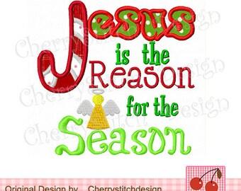 Clip Art Jesus Is The Reason For The Season Clip Art jesus reason season etsy is the for christmas embroidery applique 4x4 5x5 6x6 inch machine design