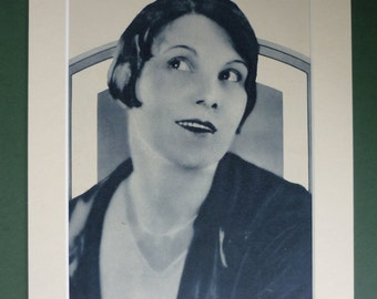 1927 Vintage Print Of Leatrice Joy - Hollywood Silent Movie Star - Film Starlet - Glamour - Old Photograph - Art Deco Print - Actress