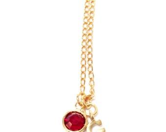 Gryffndor Crystal Charm Necklace