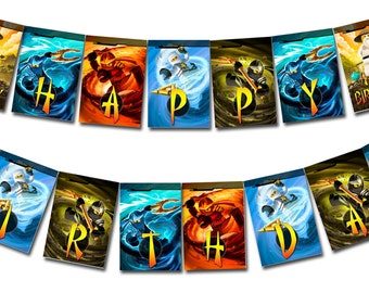 INSTANT DOWNLOAD - Ninjago Happy Birthday Banner